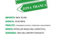 Finanziamenti per Zona Franca