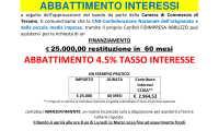 News: abbattimento tasso d'interesse CCIAA