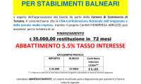 NEWS: SPECIALE FINANZIAMENTI PER SETTORE BALNEATORI-ABBATTIMENTO TASSO D'INTERESSE